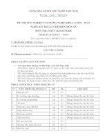 đề thi tốt nghiệp cao đẳng nghề-kỹ thuật chế biến món ăn-môn thi thực hành nghề mã đề thi ktcbma – th (1)