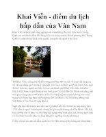 Khai Viễn - điểm du lịch hấp dẫn của Vân Nam doc