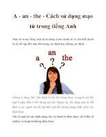 A - an - the - Cách sử dụng mạo từ trong tiếng Anh pdf