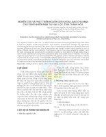 Nghiên cứu và phát triển nguồn gen khoai lang chịu mặn cho vùng nhiễm mặn tại Hậu Lộc, tỉnh Thanh Hóa pdf