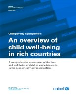Child poverty in perspective: An overview of child well-being in rich countries pptx