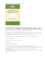 Chronicles of England, Scotland and Ireland (2 of 6): England (1 of 12) William the Conqueror pdf