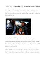 Mẹo hay giúp chống say xe cho bé khi đi du lịch pot