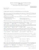 đề thi kiểm tra chất lượng ôn thi đại học lần thứ 2 năm 2013 - 2014 môn vật lý mã đề  209