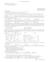 Thi thử Hóa Chuyên Lê Quý Đôn QT 2012 lần 1 pptx