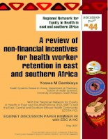 A review of non-financial incentives for health worker retention in east and southern Africa pot