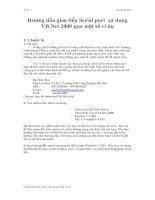 Hướng dẫn giao tiếp Serial port sử dụng VB.Net 2008 qua một số ví dụ pot