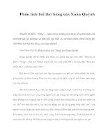Phân tích bài thơ Sóng của Xuân Quỳnh pptx