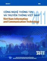 CÔNG NGHỆ THÔNG TIN VÀ TRUYỀN THÔNG VIỆT NAM (Information and Data on Information and Communication Technology) 2011 ppt