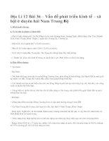Địa Lí 12 Bài 36 – Vấn đề phát triển kinh tế – xã hội ở duyên hải Nam Trung Bộ