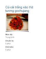 Củ cải trắng xào thịt tương gochujang potx
