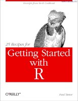 25 Recipes for Getting Started with R docx