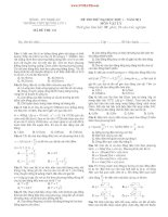 ĐỀ THI THỬ ĐẠI HỌC ĐỢT 1 – NĂM 2013 MÔN VẬT LÝ TRƯỜNG THPT QUỲNH LƯU 1 MÃ ĐỀ THI: 134 doc