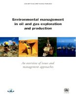 ENVIRONMENTAL MANAGEMENT IN OIL AND GAS EXPLORATION AND PRODUCTION pptx