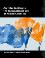 AN INTRODUCTION TO THE INTERNATIONAL LAW OF ARMED CONFLICTS doc