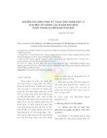NGHIÊN CỨU BIỆN PHÁP KỸ THUẬT BÓN PHÂN HỢP LÝ CHO MỘT SỐ GIỐNG LÚA THUẦN PHỔ BIẾN VÙNG TRUNG DU MIỀN NÚI PHÍA BẮC ppt