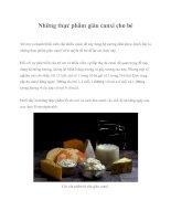 Những thực phẩm giàu canxi cho bé potx