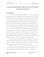 Đề tài: MỘT SỐ GIẢI PHÁP PHÁT TRIÊN KĨ NĂNG VIẾT TRONG MÔN TIẾNG ANH THCS docx