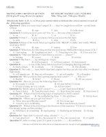 ĐỀ THI THỬ ĐẠI HỌC LẦN 1 NĂM 2012 Môn: Tiếng Anh pot
