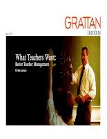 What Teachers Want: Better Teacher Management doc