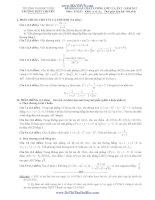 ĐỀ KHẢO SÁT CHẤT LƯỢNG LỚP 12, LẦN 2 - NĂM 2013 Môn: TOÁN; Khối: A và A1 pptx