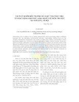 Chi phí ô nhiễm môi trường do chất thải phát sinh từ hoạt động sản xuất làng nghề chế biến tinh bột tại Hoài Đức, Hà Nội pdf