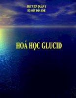 BÀI GIẢNG HOÁ HỌC GLUCID docx