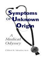 Symptoms of Unknown Origin A Medical Odyssey potx
