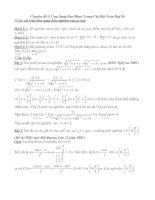 Chuyên đề Ứng Dụng Đạo Hàm Trong Các Bài Toán Đại Số pdf
