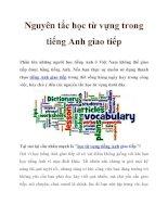 Nguyên tắc học từ vựng trong tiếng Anh giao tiếp ppt