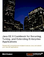 Java EE 6 Cookbook for Securing, Tuning, and Extending Enterprise Applications pdf