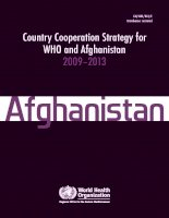 Country Cooperation Strategy for WHO and Afghanistan 2009–2013 doc