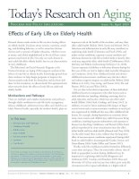 Today's Research on Aging - Effects of Early Life on Elderly Health potx
