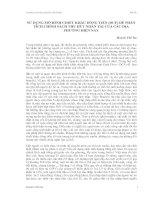 SỬ DỤNG MÔ HÌNH CHIẾT KHẤU DÒNG TIỀN (DCF) ĐỂ PHÂN TÍCH CHÍNH SÁCH THU HÚT NHÂN TÀI CỦA CÁC ĐỊA PHƯƠNG HIỆN NAY docx