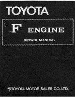 TOYOTA f ENGINE REPAIR MANUAL HƯỚNG dẫn sửa CHỮA ĐỘNG cơ f TOYOTA