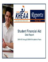Student Financial Aid Data Report 2004-05 through 2008-09 Academic Years pptx