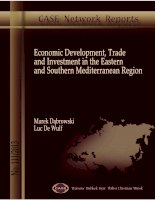 ECONOMIC DEVELOPMENT, TRADE AND INVESTMENT IN THE EASTERN AND SOUTHERN MEDITERRANEAN REGION pptx