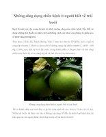 Những công dụng chữa bệnh ít người biết về trái bưởi pot