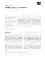 Báo cáo khoa học: Cytokine properties of prokineticins Justin Monnier and Michel Samson pptx