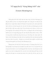 """Về nguyên lý """"tảng băng trôi"""" của Ernest Hemingway potx"""