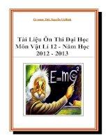 Tài Liệu Ôn Thi Đại Học Môn Vật Lí 12 - Năm Học 2012 - 2013 ppt