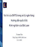 Vai trò của BHTG trong xử lý ngân hàng: Hướng dẫn quốc tế & Kinh nghiệm của Đài Loan doc