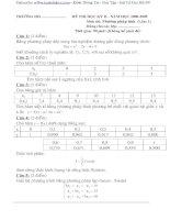 Đề thi môn phương pháp tính và lời giải năm 2008 - 2009