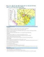 Địa lí 12 – Bài 33: Vấn đề chuyển dịch cơ cấu kinh tế theo ngành của đồng bằng Sông Hồng ppt