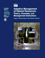 Adaptive Management of Natural Resources: Theory, Concepts, and Management Institutions docx