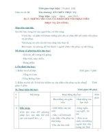 Giáo án số 6 - Bài 3: NHỮNG YÊU CẦU CÁ NHÂN ĐỐI VỚI NHÂN VIÊN PHỤC VỤ ĂN UỐNG pdf