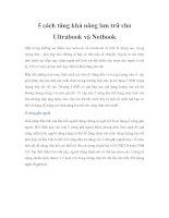 5 cách tăng khả năng lưu trữ cho Ultrabook và Netbook potx