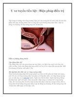 U xơ tuyến tiền liệt : Biện pháp điều trị doc