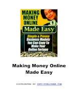 Making Money Online Made Easy docx