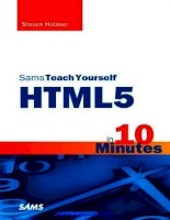 Sams Teach Yourself HTML5 in 10 Minutes potx